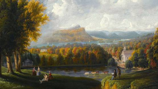 Robert Havell Jr - View of the Hudson River, 1866 - Image via Wikimedia Commons