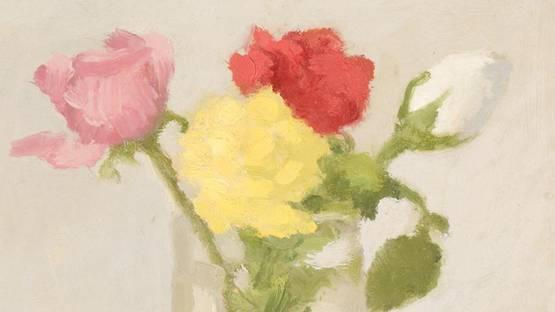 Robert Kulicke - Roses, photo via auctions freemanauctions com