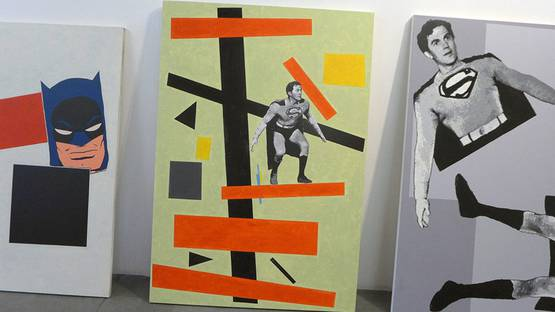 Robert Levine - After Malevich, solo show at MAMA Gallery, 2015, photo via pasunautre com