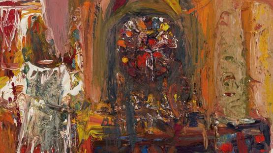 Robin Philipson - Chatedral Interior (detail), photo via the-saleroom