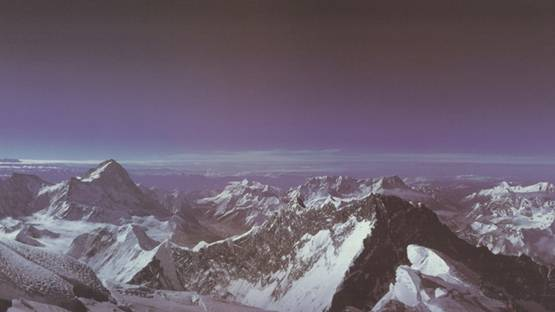 Roderick Dempster MacKenzie - The World from the Summit of Mount Everest, 1989 (detail)