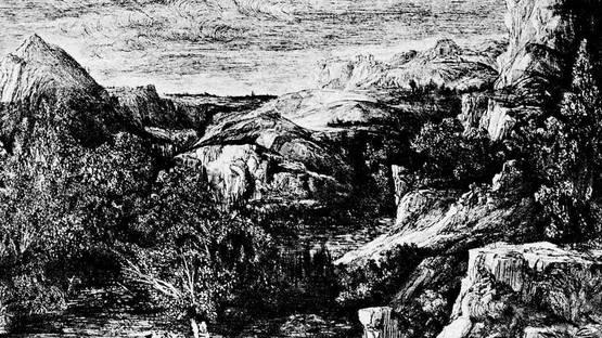 Rodolphe Bresdin - Nymphenbad, Litographie (detail), photo via wikimedia