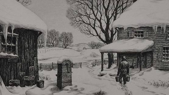 Ronau Woiceske - Winter Chores, 1939 (detail)