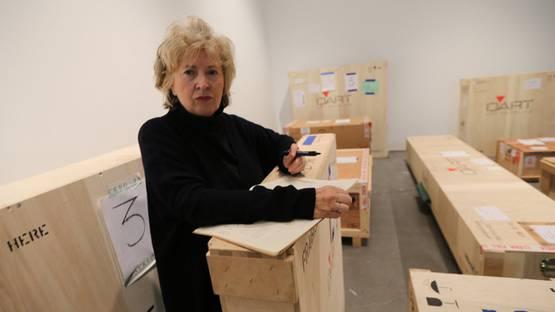 Rosemarie Trockel's portrait - image via nytimescom