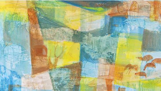 Rosemary Zwick - Country Landscape (detail)