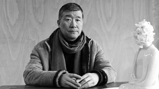 Ru Xiao Fan - artist in his atelier, 2013, photo credits Michel Lunardelli