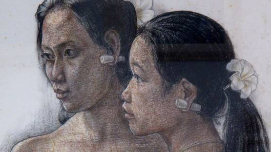 Rudolf Bonnet - The Girls Ni Nyoman and Ni Ketut (detail) - 1976