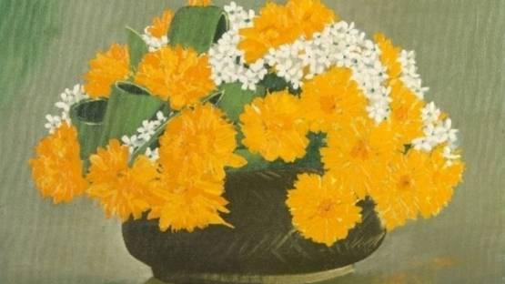 Russ Elliott - Still Life of Flowers (detail)