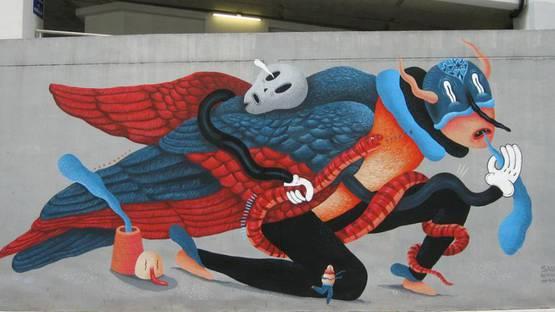 Saddo - mural in Bangkok - 2013