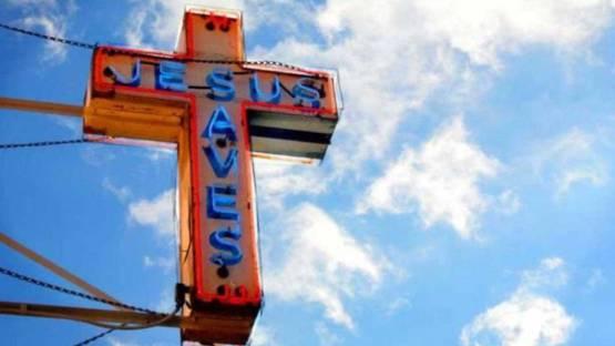 Sally Davies - Jesus Saves, 2010 (detail)