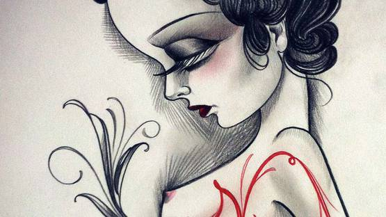 Sandi Calistro - Untitled (Detail) - image via tattooartistnagazineblogcom