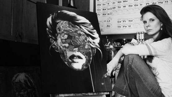 Sandra Chevrier in her studio
