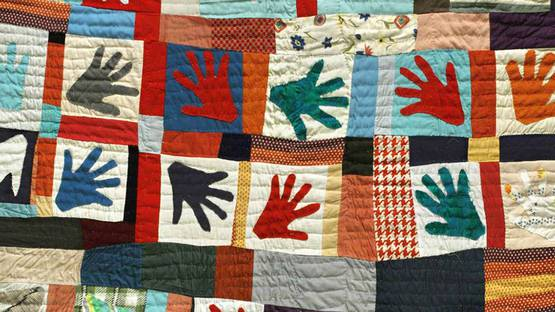 Sarah Mary Taylor - Hands Quilt (detail), 1980