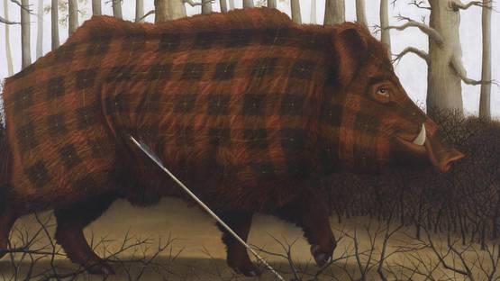 Sean Landers - Brueghel the Archer (Boar), 2013 (detail)