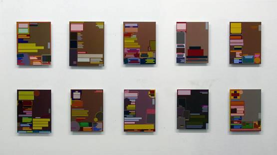Sebastian Biskup - Zugumzug, 7hours, Berlin, 2008, installation view