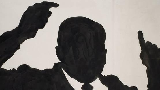 Sergio Lombardo - Uomo politico in atteggiamento tipico (detail), 1961, photo via alfabeta2