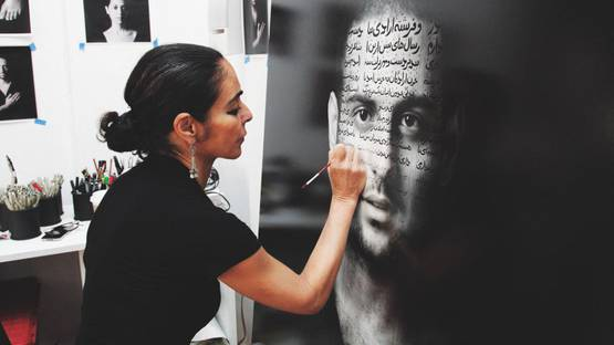 Shirin Neshat - work in progress, photo credits - artist