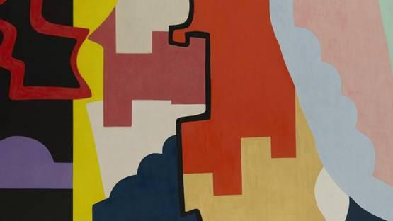 Shirley Jaffe - The Black Line (detail), 1974