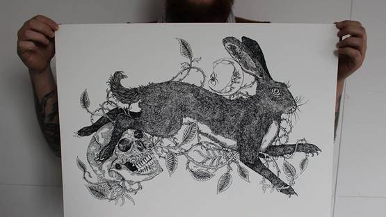 Sin Eater and Brambles, Rowan and The Hare - image copyright of the artist