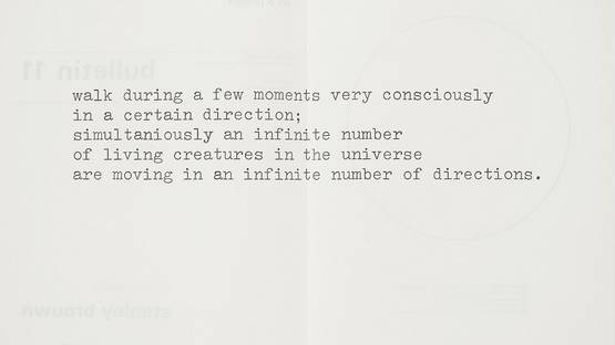 Stanley Brouwn - Art & Project Bulletin 11, 1969 - image courtesy of Accessions