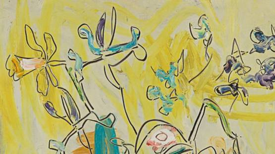 Sterling Boyd Strauser - Floral Still Life (detail) - image via graysauctioneerscom