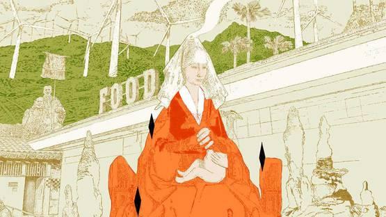 Steve Moors - Food Woman Wind, 2019 (detail)