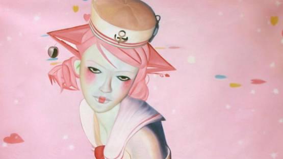 Sumomo Kanashiwa - On the Floor (detail), 2008, photo credits Galerie Jacob Paulett