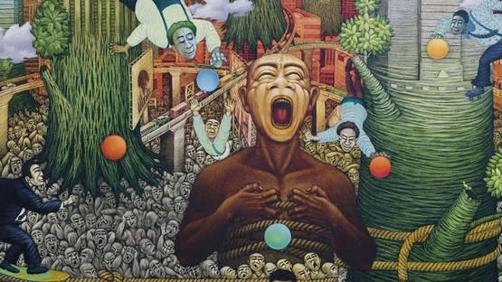Suraji - Teeming Crowd (detail), 2006