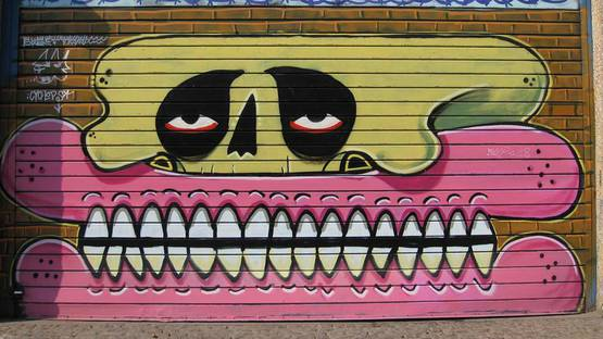 Sweet Toof - mural in London, UK