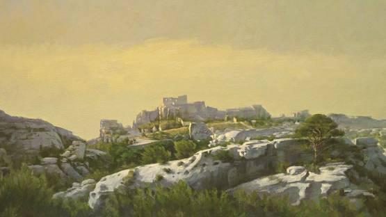 Szeto Lap - Golden Chateau (detail), photo via sothebys