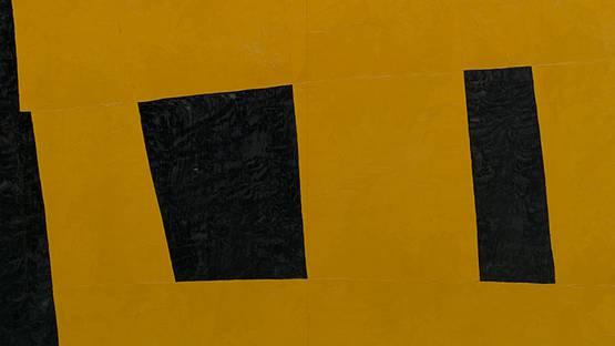 Takeo Yamaguchi - Work - Yellow (Unstable Square Fuantei shikaku, 1958 (detail)