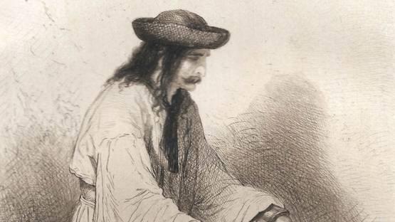 Théodore Valério - Prisonnier hongrois / Hungarian Prisoner, 1867 (detail)