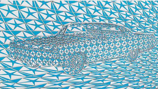 Thomas Bayrle - Untitled (Detail) - image via maharamcom