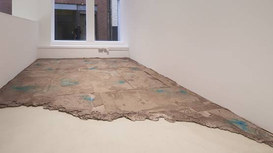 Tiril Hasselknippe - Floor, 2014, Concrete, dye 386L x 273 x 5 cm, photo credits of  Evelyn Yard