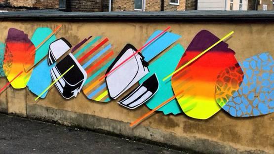 Toaster - street art in London