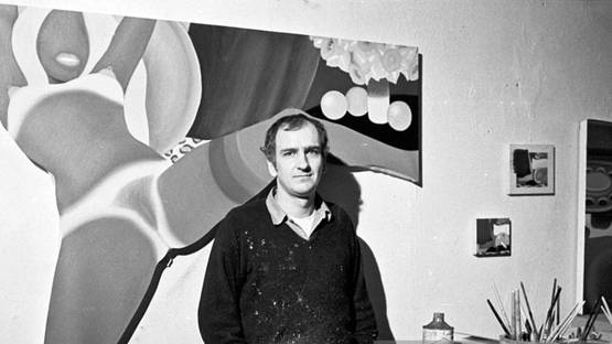 Tom Wesselmann - Photo in his studio in March 1969 - Image via gettyimagescomau