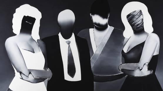 Tomoo Gokita - Tokyo Confidential (detail), 2015, Acrylic gouache on canvas, 76 x 102, photo credits - The Red List