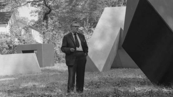 Tony Smith, photo by Rudy Burckhardt, 1966