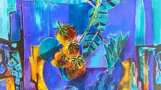 Tony Agostini - Nature morte aux fruits, ca 1970 (detail)