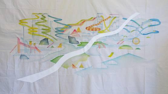 Tzu-Ting Wang - Sleep in the Belly of Ocean (detail), 2014