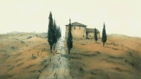 Ute Gortner - Toskanische Landschaft / Tuscan Landscape, 1985 (detail)