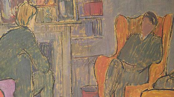 Vanessa Bell - Conversation Piece at Asheham (detail), 1912, photo via tate org uk