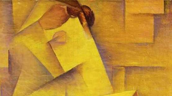 Vasily Dmitrievich Ermilov - Lady with a Fan (detail) - 1919