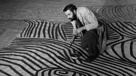 Victor Pasmore at work, 1951