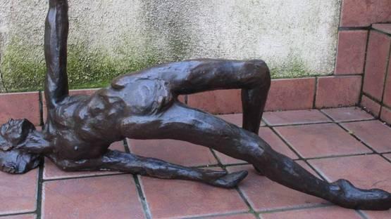 Victor Salmones - Aquarius Bronze Sculpture AP (detail), 1974