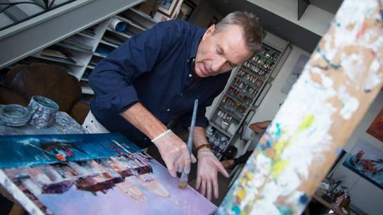 Victor Spahn in studio