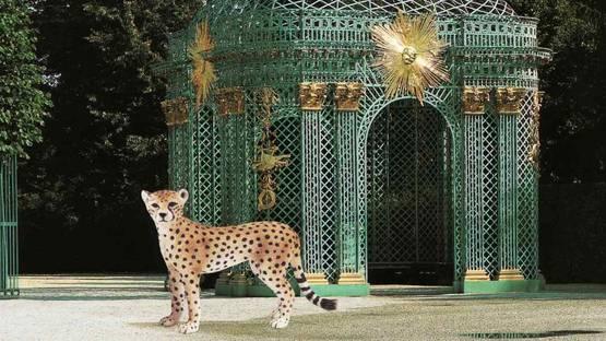 Vikky Alexander - Cheetah and Pavilion at Sans Souci, 2013 - Image via finearts