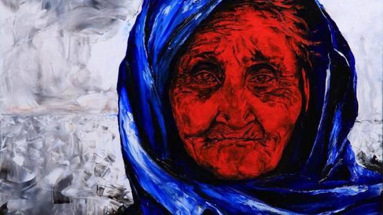 Volodya Hubanov - The Blue Scarf, 2016 (detail)