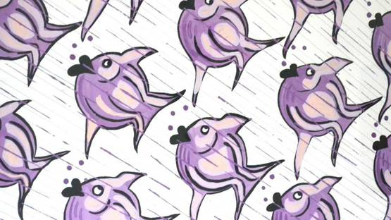 Walshe - Lilac Fish, 2006 (detail)