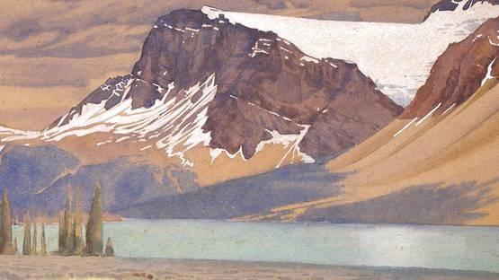 Walter Joseph Phillips, Bow Peak BowLake, 1935 (detail)